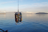 CTD deployment at Boundry Passage