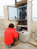 Survicing cable wiring in Cambridge Bay