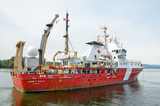 CCGS Tully in port at Patricia Bay