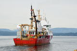CCGS Tully departs Patricia Bay