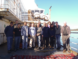 Crew and scientists of Wiring the Abyss 2014, on the CCGS Tully