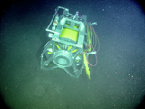 Remotely Operated Cable Laying System (ROCLS) on the seafloor