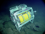 Remotely Operated Cable Laying System (ROCLS) on seafloor at
