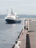 Nautilus nearing dock at Ogden Point