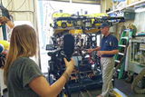 Dr. Bob Ballard with the Hercules ROV
