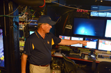 Dr. Bob Ballard in the Nautilus ROV control room