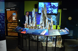 Tom with the hydrothermal vent exhibit at Vancouver Aquarium
