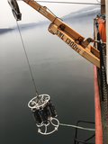 CTD being deployed in Saanich Inlet