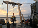 ROV Odysseus is recovered from a dive